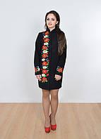 Черное женское кашемировое пальто