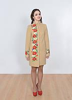 Кашемировое пальто, вышитое цветами