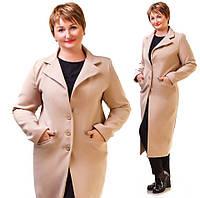Пальто женское батал кашемировое в расцветках 12125, фото 1