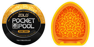 Zolo Pocket Pool Sure Shot - карманный мастурбатор с уникальным рельефом