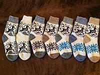 Мягкие ангоровые носочки с рисунком оленя