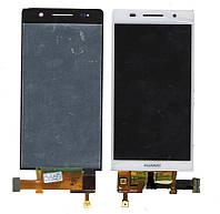 Дисплей + сенсор Huawei Ascend P6-U06, белый с тачскрином