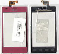 Сенсор LG E615 Optimus L5 dual sim Red (красный)