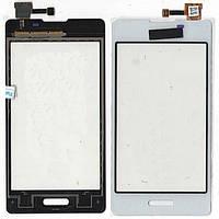 Сенсор LG E450 Optimus L5 II белый copy