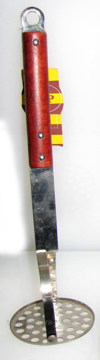 Метал + деревянная ручка картофелемялка
