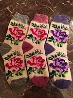 Красивые теплые ангоровые носочки