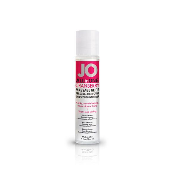 Массажное масло с экстрактом клюквы - JO Massage Glide Cranberry 30 ml