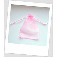 Мешочек из органзы, 18 см х 13 см, розовый.