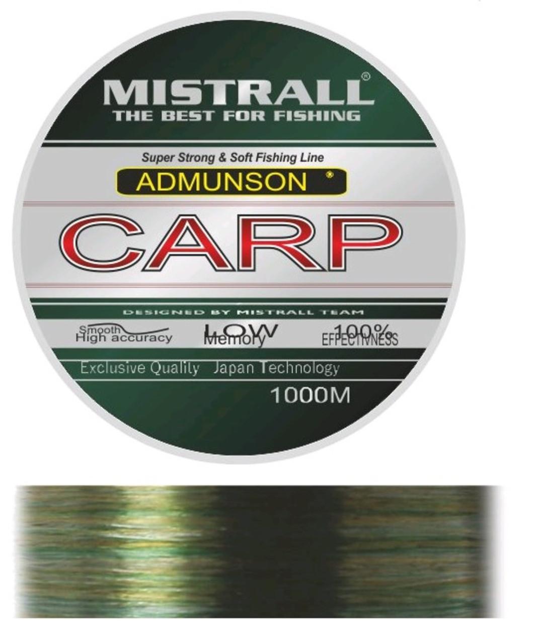 Леска Mistrall AMUNDSON CARP CAMOUFLAGE 1000M 0,4MM