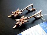 Женские серьги из золота 6.14 грамма Золото 585* пробы, фото 7