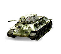 Картонная модель Танк Т-34 (1941 г.) белый 199-01 УмБум