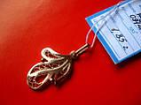 Золотой АЖУРНЫЙ кулон подвеска 1.85 грамма  ЗОЛОТО 585 пробы, фото 6