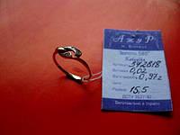 Кольцо золотое 585 пробы 15.5 размер 0.97 грамма