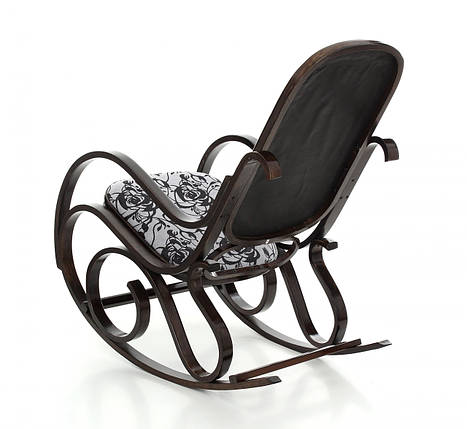 Кресло качалка темное узор XXL, фото 2