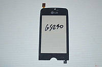 Тачскрин / сенсор (сенсорное стекло) для LG Cookie Fresh GS290 (черный цвет, самоклейка)