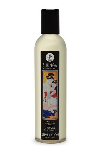 Масло для массажа с ароматом персика - Shunga Stimulation