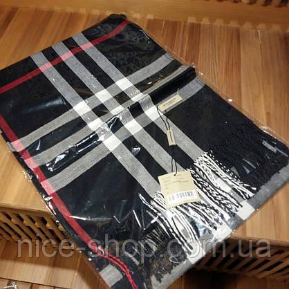 Шарф Burberry черный с бахромой, фото 2