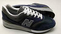 Мужские кроссовки New Balance 997 синие серым