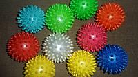 Мячик массажер шипованый резиновый диам.7см 30г мягкий для реабилитации