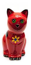 Копилка Кот керамика красная
