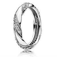 Пандора Pandora кольцо Лента любви 190981CZ, размер 58 серебро 925