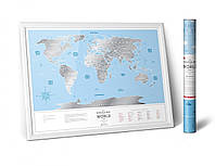 Скретч Карта Мира Travel Map Silver в тубусе