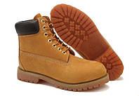 Женские ботинки Timberland Classic 6 inc Yellow Тимберленд желтые бежевые  жіночі тімберленд