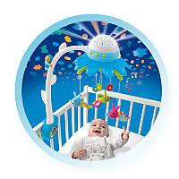 Музыкальный мобиль на кроватку Цветочек голубой Smoby Cotoons 211374N