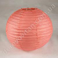 Бумажный подвесной фонарик, коралловый, 40 см