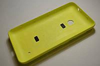 Задняя крышка  Nokia Lumia 530 желтая оригинал , 02507L3