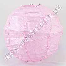Бумажный диагональный фонарик, светло-розовый, 25 см