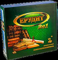 """Настільна розвиваюча економічна гра """"Ерудит 2 в 1"""", тренажер для семьи и компании Artos Games."""