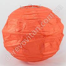 Бумажный диагональный фонарик, красный, 25 см