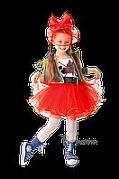 Детский карнавальный костюм КРАСНАЯ ШАПОЧКА (креатив) код 634