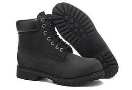 Черные Тимберленды мужские Classic Timberland 6 inch Black Boots Оригинал зимние мужские ботинки