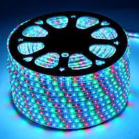 Светодиодная лента 220 В smd 5050 цвет RGB