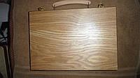 Нарды деревянные настольная игра чемоданчик 28х40см