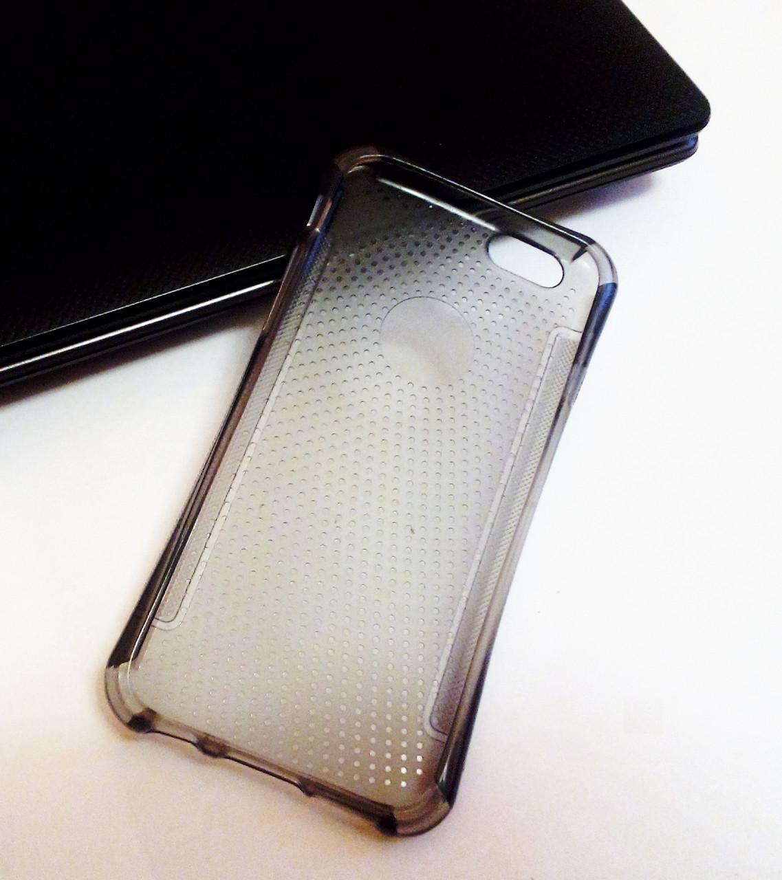 Силиконовый чехол (силиконовая накладка, бампер) TPU c защитными углами на IPhone 6/6s Black