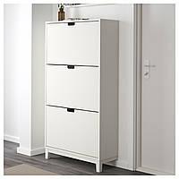IKEA СТЭЛЛ Галошница,3 отделения, белый : 50178091, 501.780.91