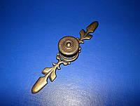 Ручка мебельная на планке бронза К7402, фото 1