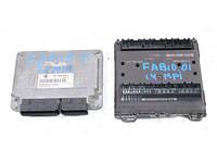 Блок управления двигателем комплект 1.4 8V sk Skoda Fabia 1999-2007