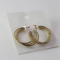Красивые стильные женские позолоченные серьги сережки от H&M