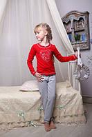 Качественная детская пижама с сердечком