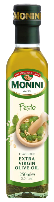 Оливкова олія Monini Pesto (з песто) extra vergine, 250 мл.
