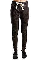 Штаны женские ткань трикотаж джокард, 2 расцветки , супер качество ,к низу зауженные вч №325