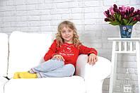 "Качественная детская пижама с ""Xello-Kitti"" красного цвета"