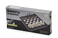 Шахматы настольная дорожная игра пластик на магнитах 25х25см
