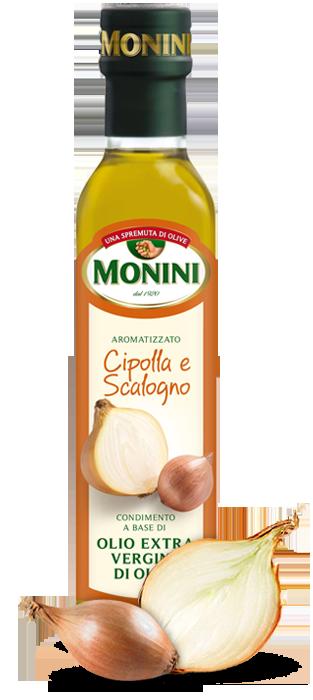 Оливковое масло Monini Cipolla e Scalogno (с луком) extra vergine, 250 мл.