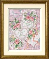 "DMS-03217 ""Два сердца"", ""Two Hearts United Wedding Record"" набор для вышивания DIMENSIONS"