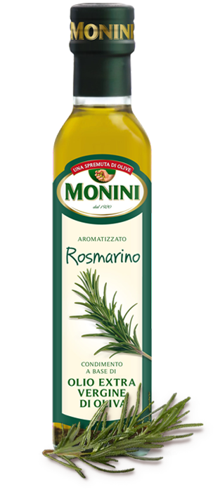 Оливковое масло Monini Rozmarino (с розмарином) extra vergine, 250 мл.